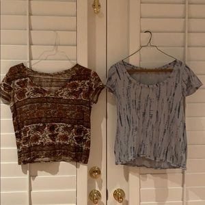 SET OF 2 short BDG tops from Urban Outfitters